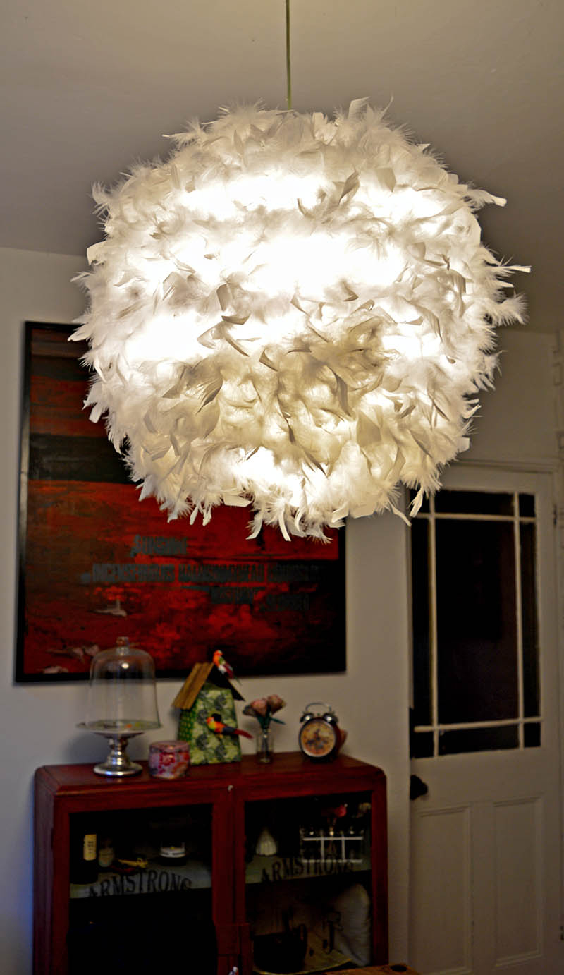A Simple Affordable And Beautiful Diy Feather Lampshade Pillar within measurements 800 X 1382