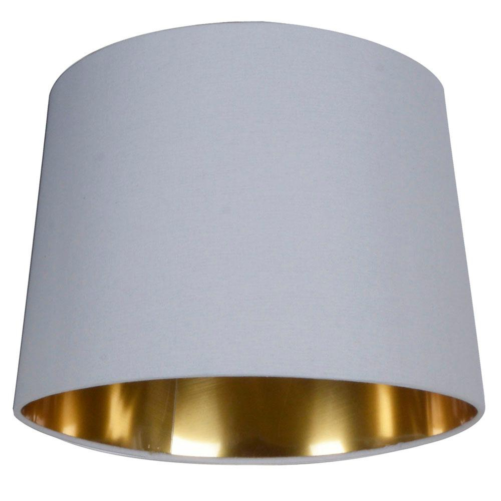 Hampton Bay 10 In White With Gold Lining Lamp Shade 17695 The pertaining to proportions 1000 X 1000