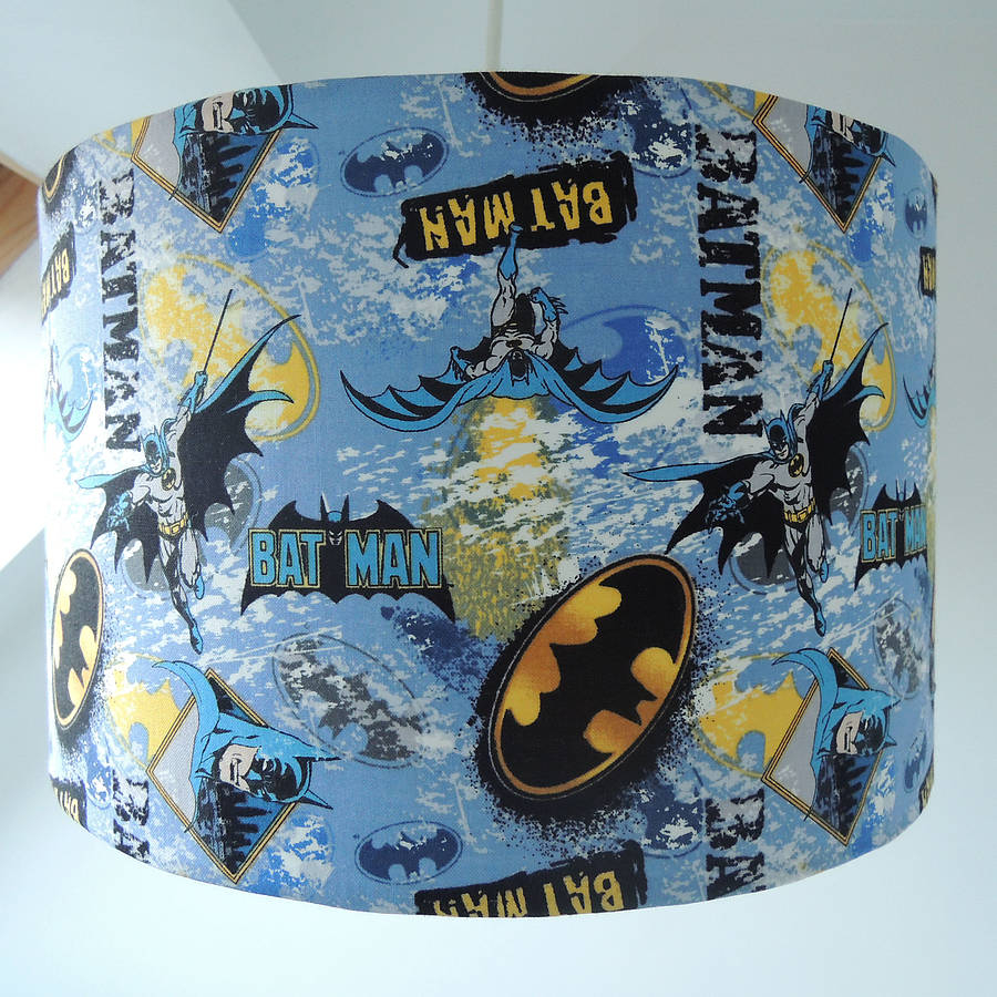 Handmade Batman Fabric Lampshade The Shab Shade for size 900 X 900
