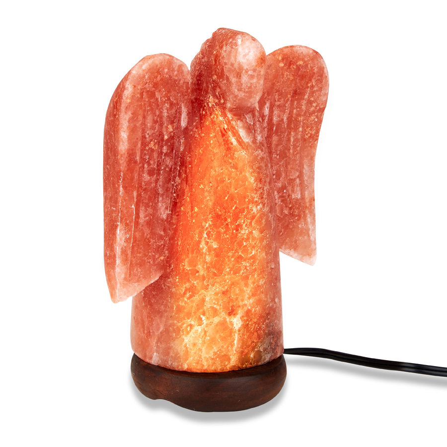 Himalayan Salt Angel Shaped Lamp Trend Marketing Brands with regard to dimensions 900 X 900