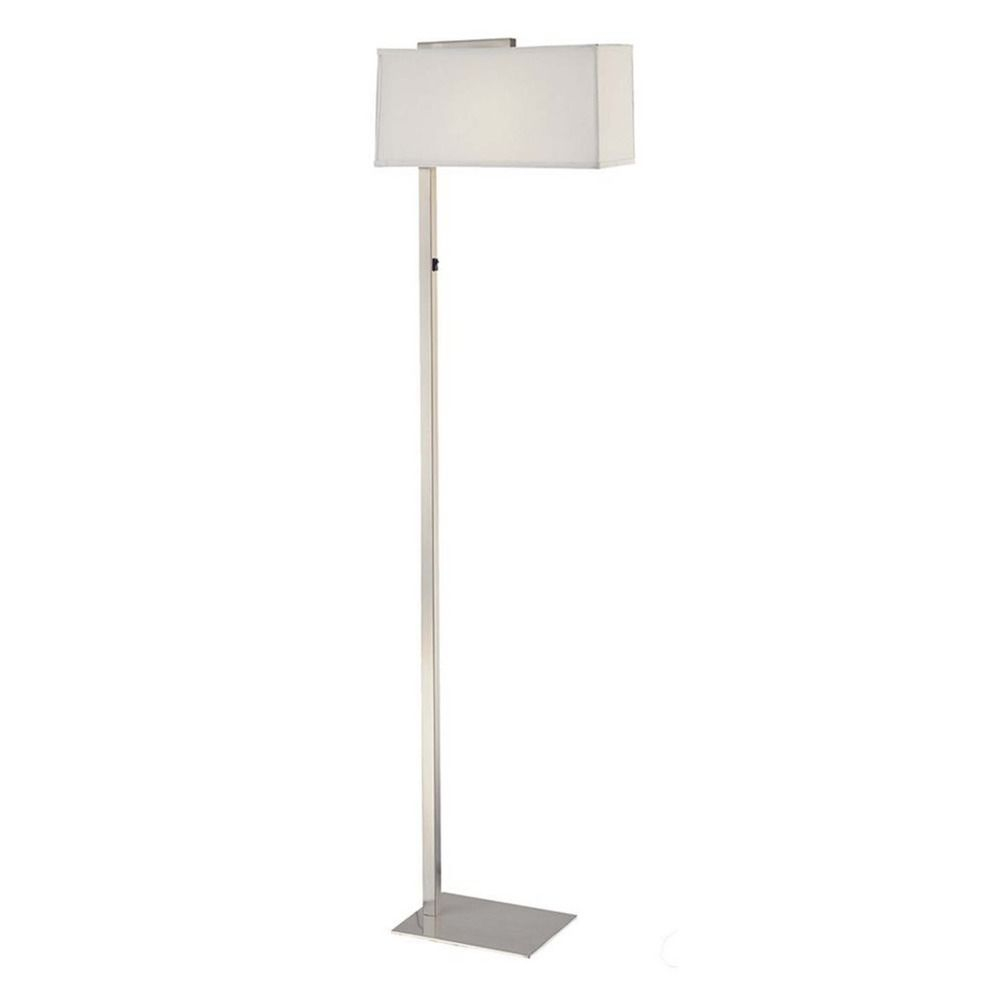 Led Floor Lamp With Rectangular Shade 6091 1 09 Sh735510w Led within size 1000 X 1000