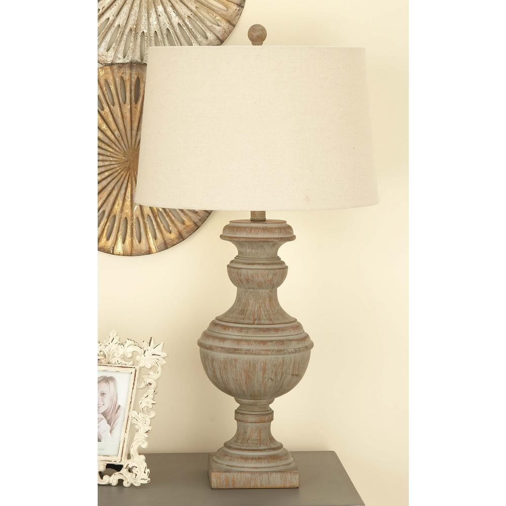 Litton Lane 30 In Classic Elegance Drum Type Polystone Table Lamp inside sizing 1000 X 1000