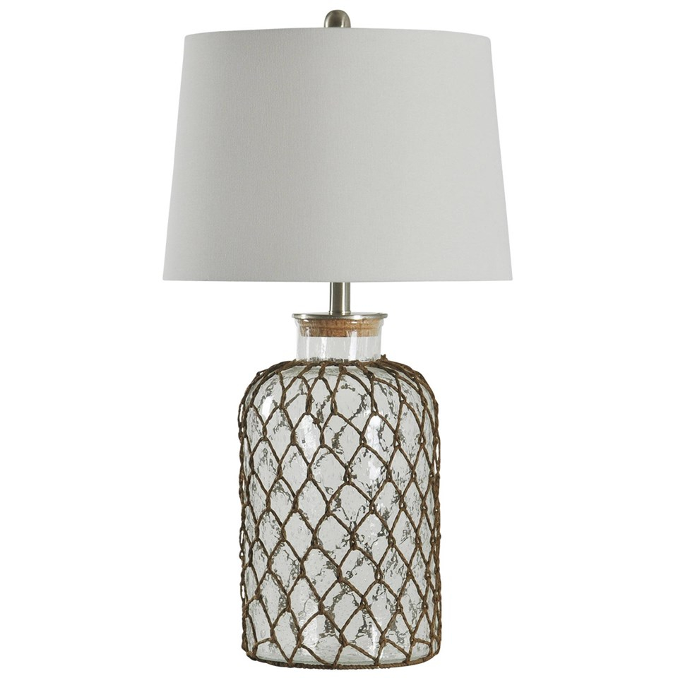 Seeded Glass And Netting Table Lamp Boulevard Urban Living pertaining to size 960 X 960