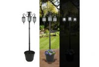 Sunergy 50408190 Madison Solar Lamp Post And Planter With 3 Solar within sizing 1280 X 720