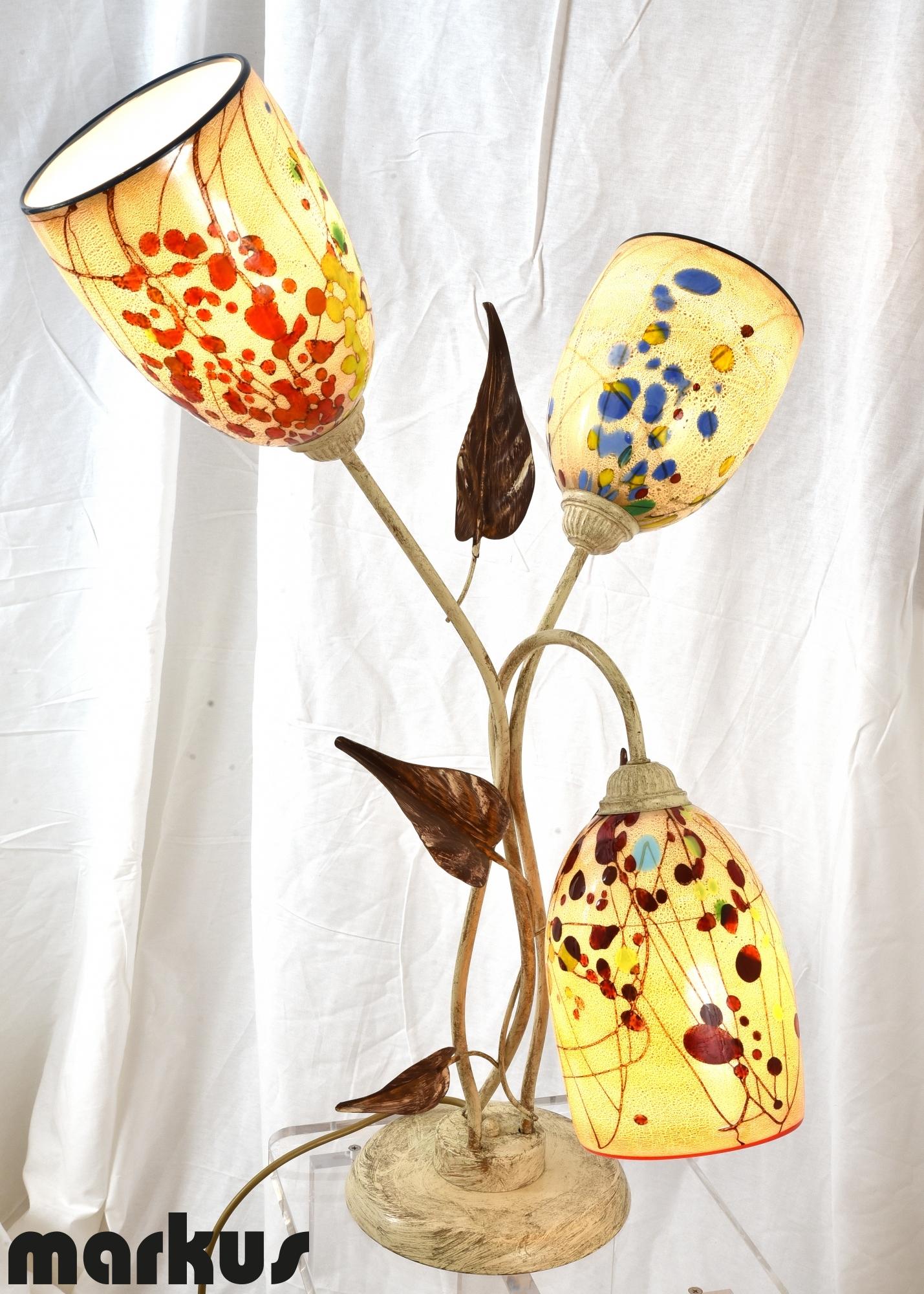 Murano glass lamp shades lamp ideas site table lamp with 3 murano glass lamp shades within measurements 1429 x 2000 aloadofball Choice Image