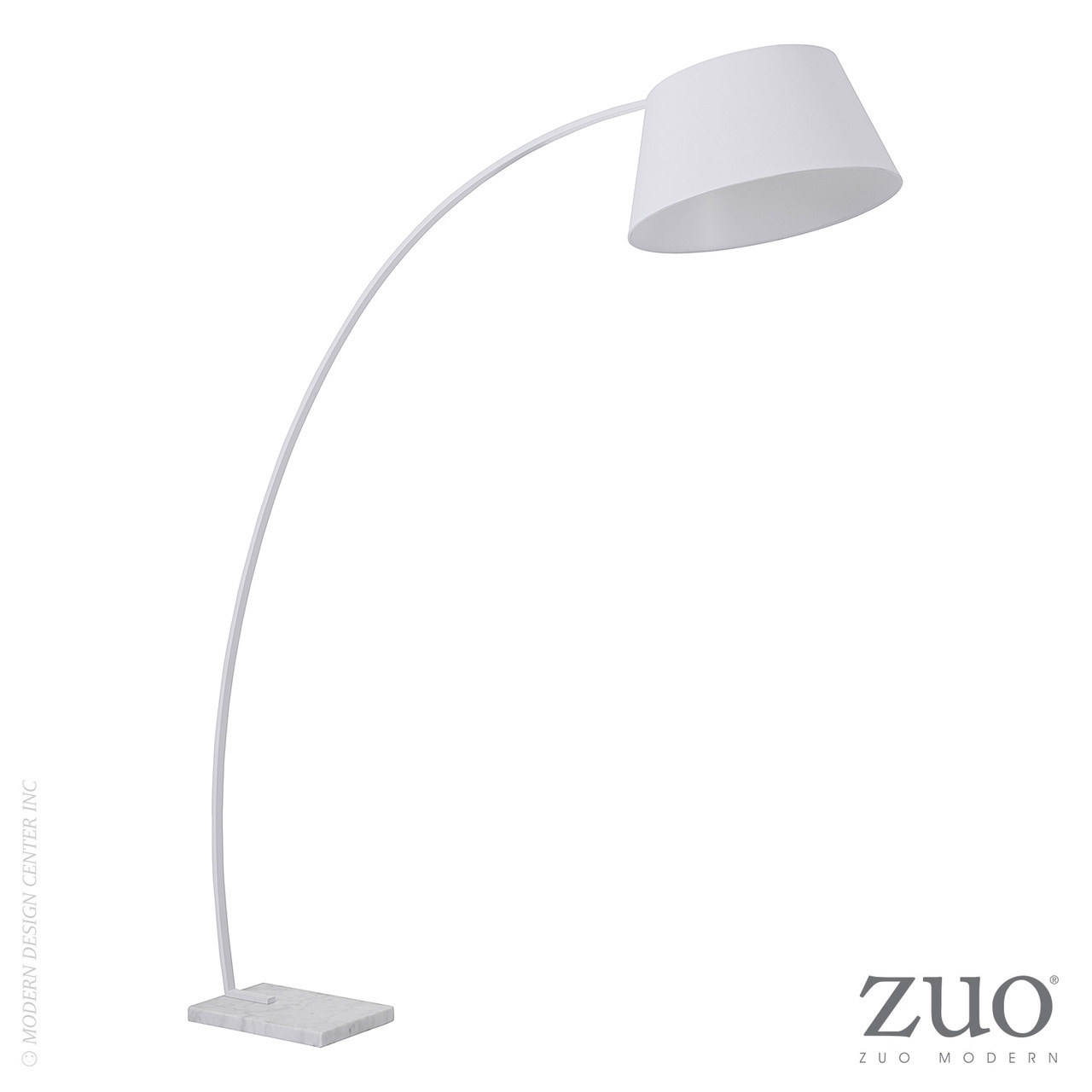 Vortex Floor Lamp White 50192 Zuo Mod Metropolitandecor inside proportions 1280 X 1280