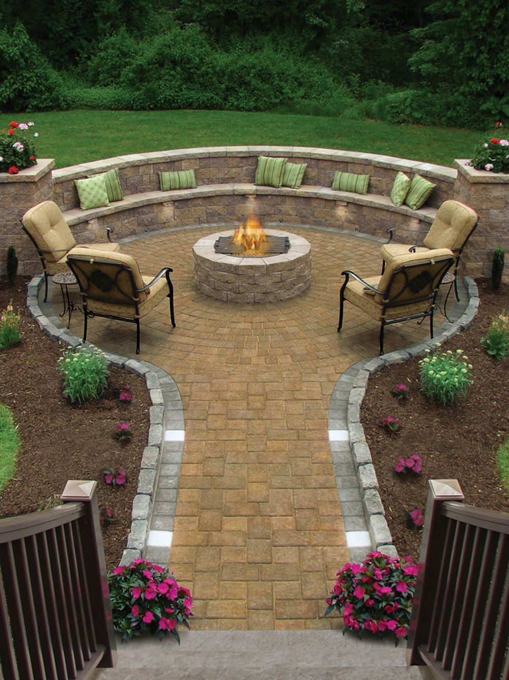 17 Of The Most Amazing Seating Area Around The Fire Pit Ever regarding measurements 1000 X 1334