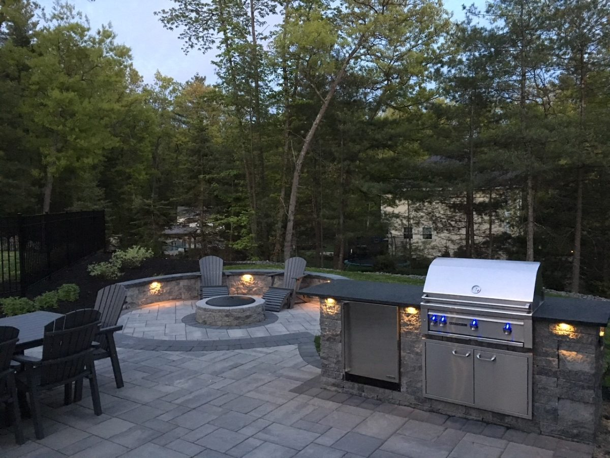 2017 Pelham Ma Patio Fire Pit Grill Island Design Works Nh within dimensions 1200 X 900