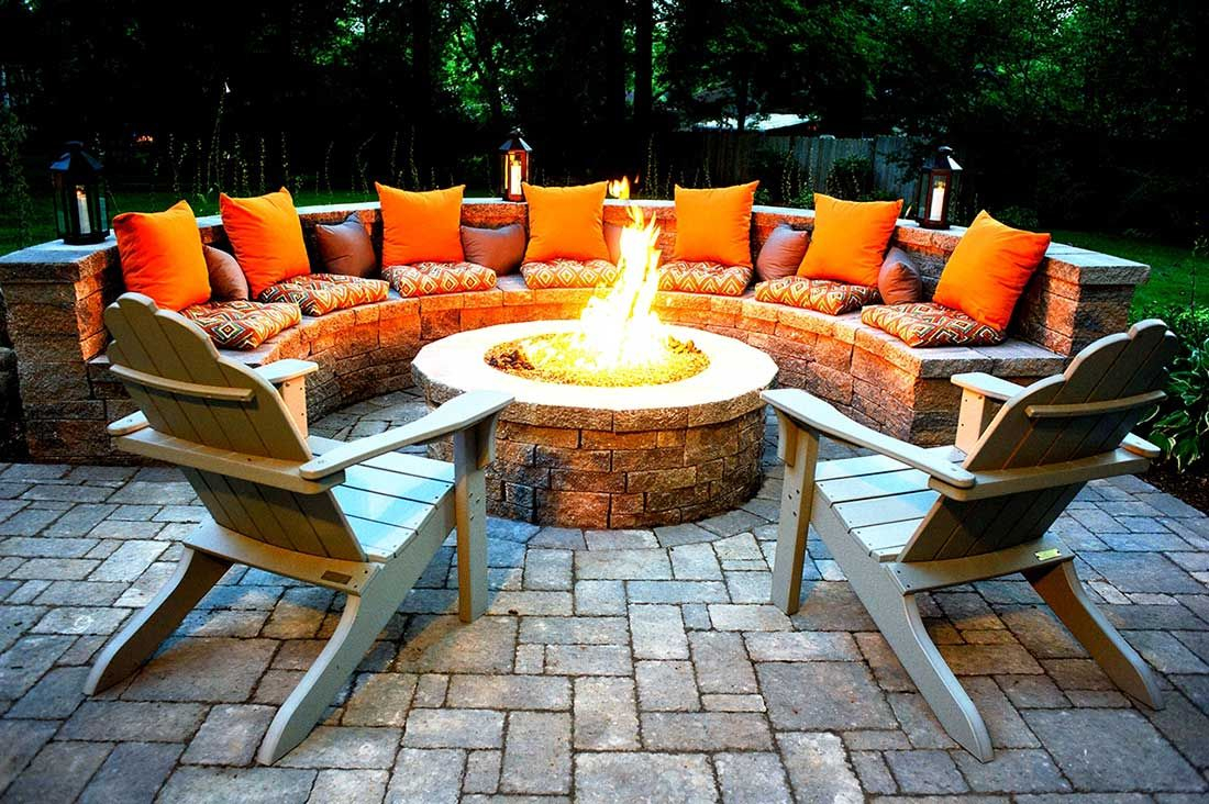 21 Amazing Outdoor Fire Pit Design Ideas Backyard Seating pertaining to sizing 1100 X 732