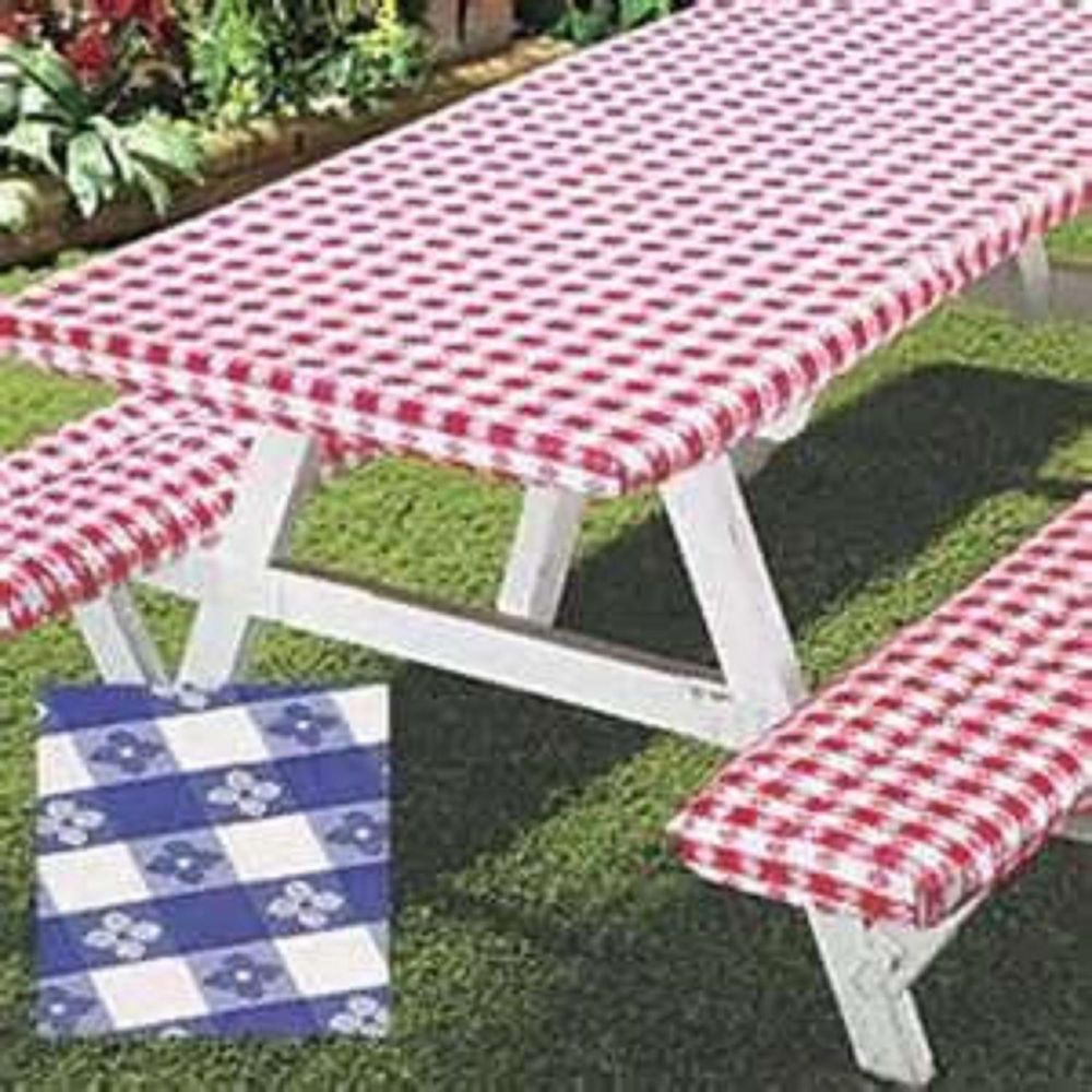 3pc Picnic Table Bench Seat Cover Elastic Fitted Vinyl inside dimensions 1000 X 1000