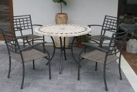 5 Piece Buckley Marble Patio Dining Set Products Outdoor regarding proportions 2000 X 1333