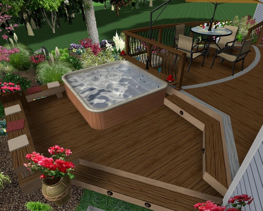 63 Hot Tub Deck Ideas Secrets Of Pro Installers Designers for dimensions 1024 X 819