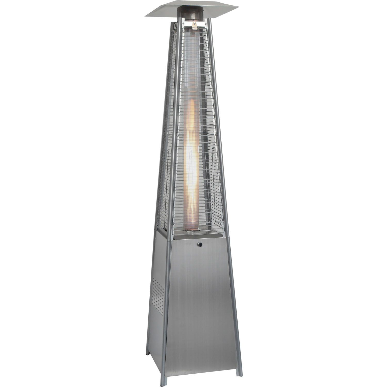 7 Ft Pyramid Propane Patio Heater In Stainless Steel with measurements 1500 X 1500