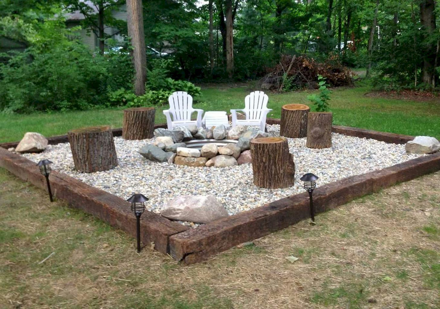 75 Easy Diy Fire Pit For Backyard Landscaping Ideas Fire for measurements 1457 X 1024