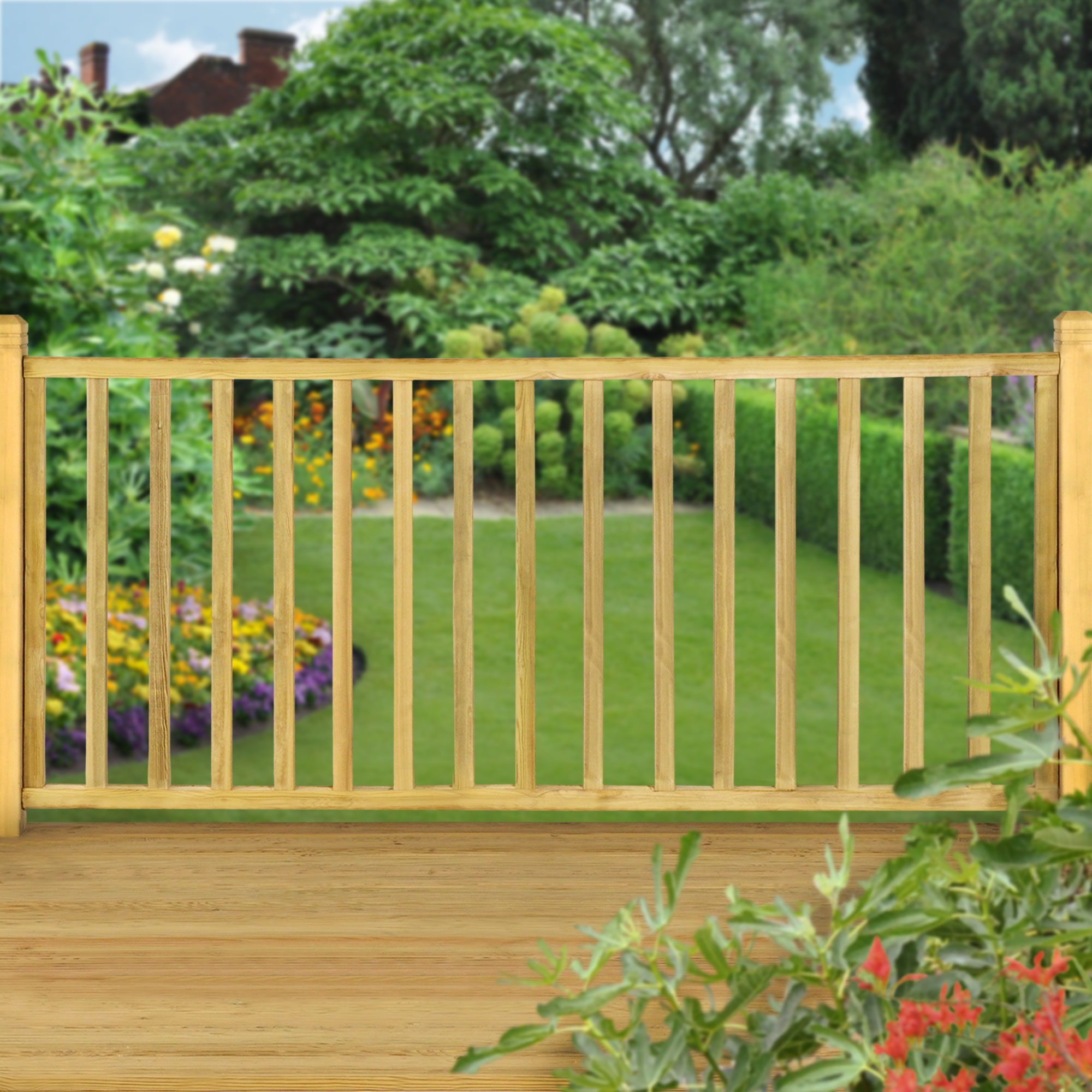 79 X 34 Square Blank Spindle Railing Kit 24m intended for size 2000 X 2000