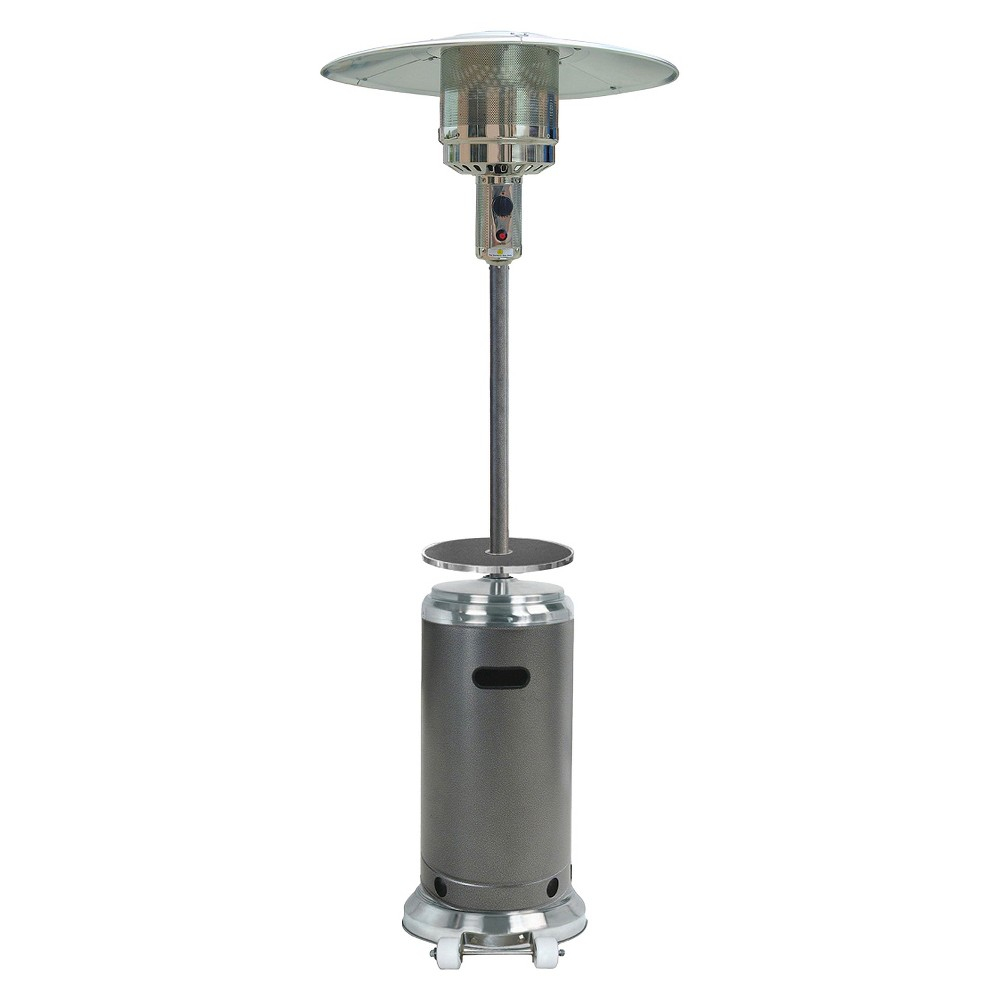 87 Tall Stainless Steelhammered Silver Patio Heater With within proportions 1000 X 1000