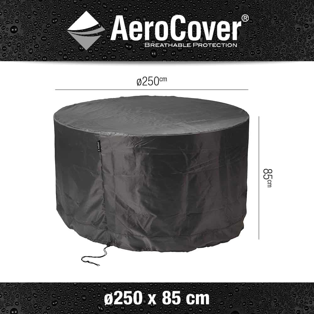 Aerocovers Garden Dining Set Furniture Cover Round 250cm 7919 throughout size 1000 X 1000