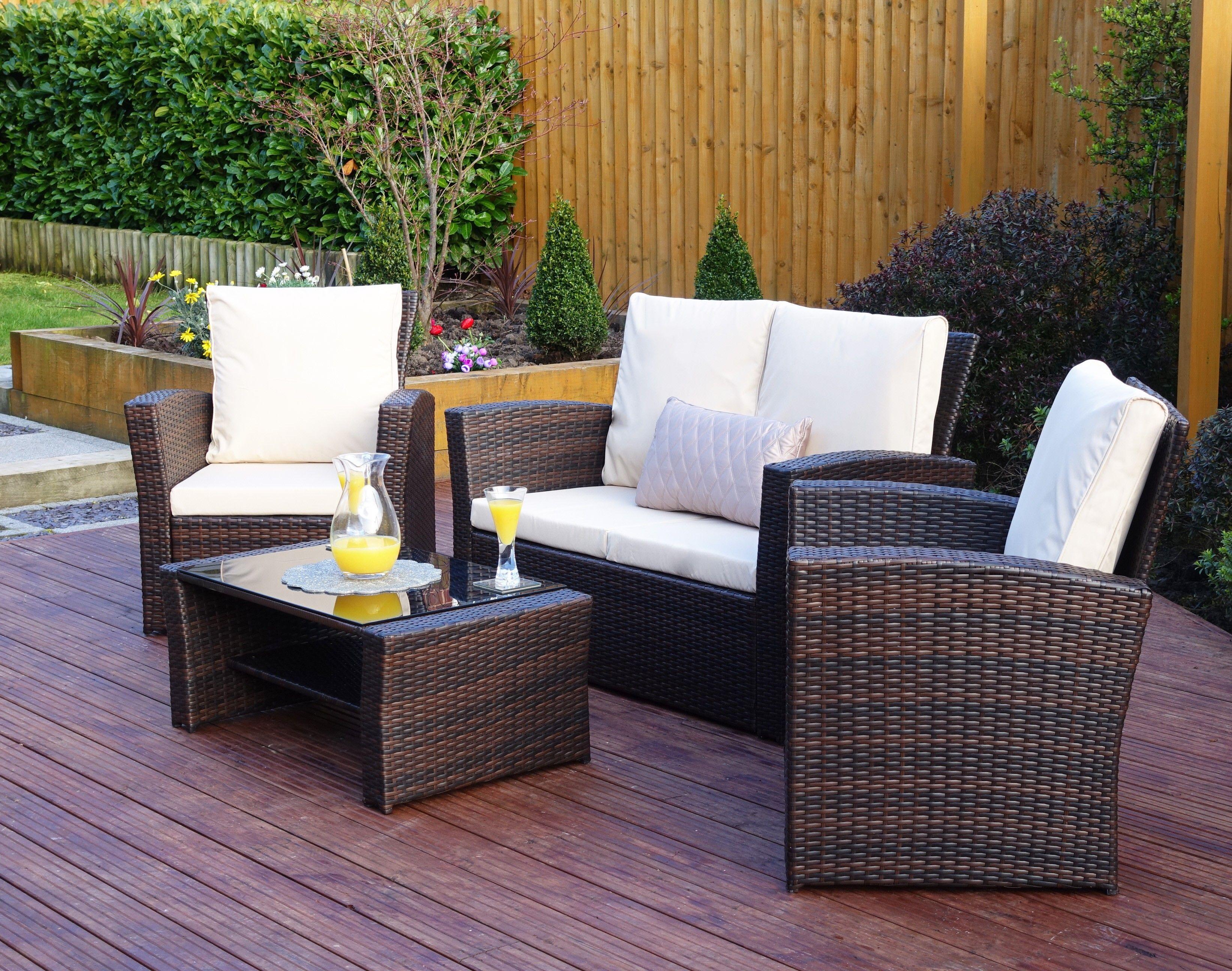 Algarve Sofa Set Rattan Outdoor Furniture Pallet Garden inside sizing 3287 X 2592