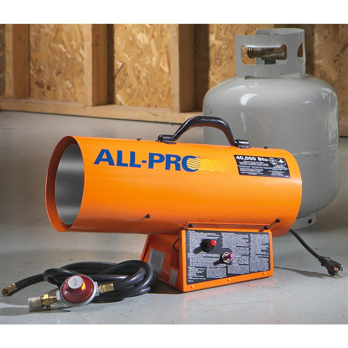 All Pro 40000 Btu Propane Heater 162460 Garage Heaters for proportions 1154 X 1154