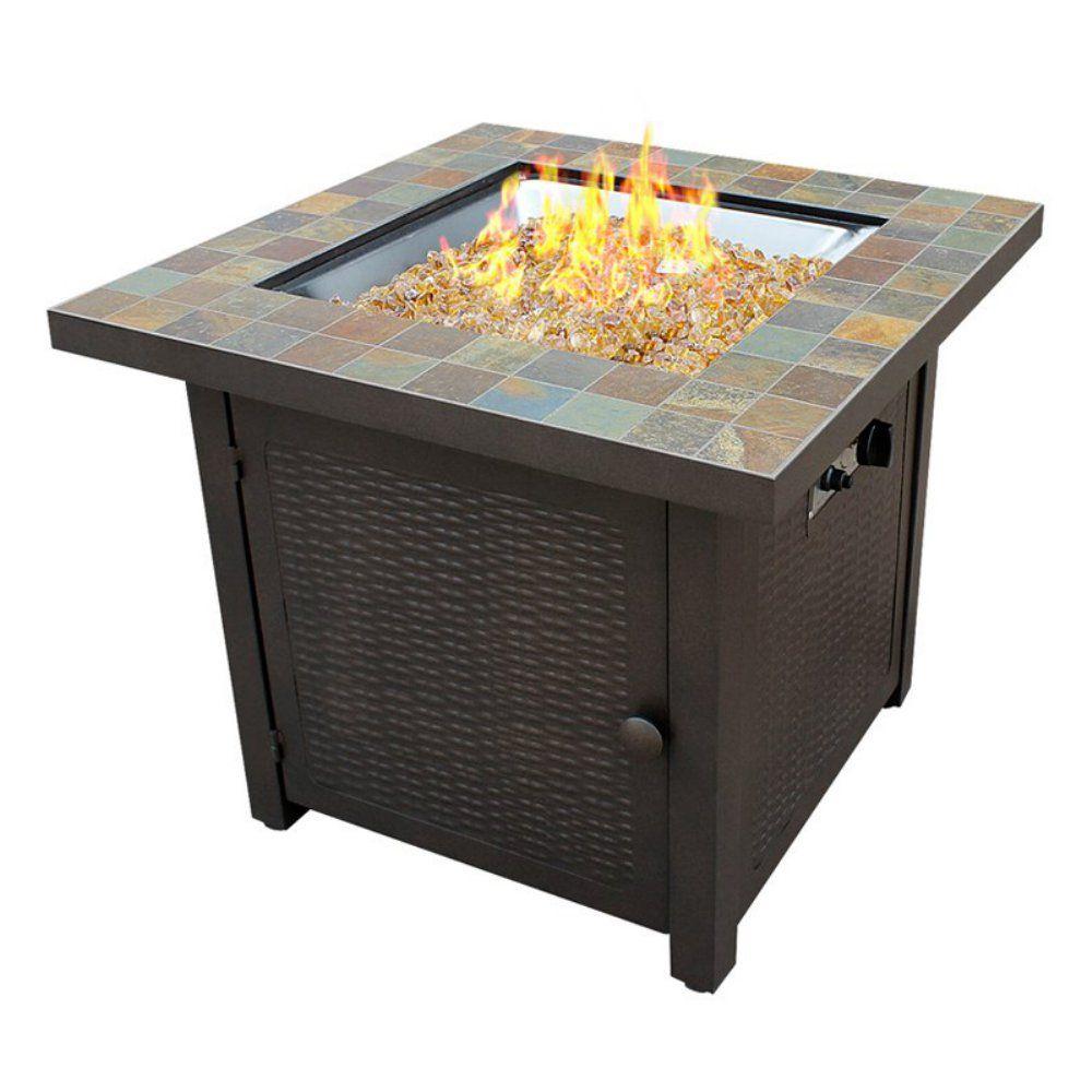 Az Patio Heaters Square Slate Fire Pit Gas Fire Pit Table with measurements 1000 X 1000