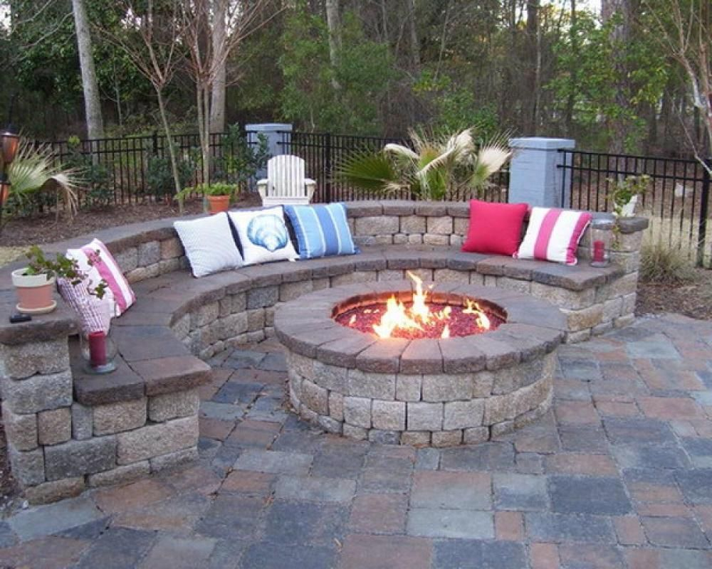 Backyard Patio With Fire Pit Garden Design Traditional throughout sizing 1000 X 800