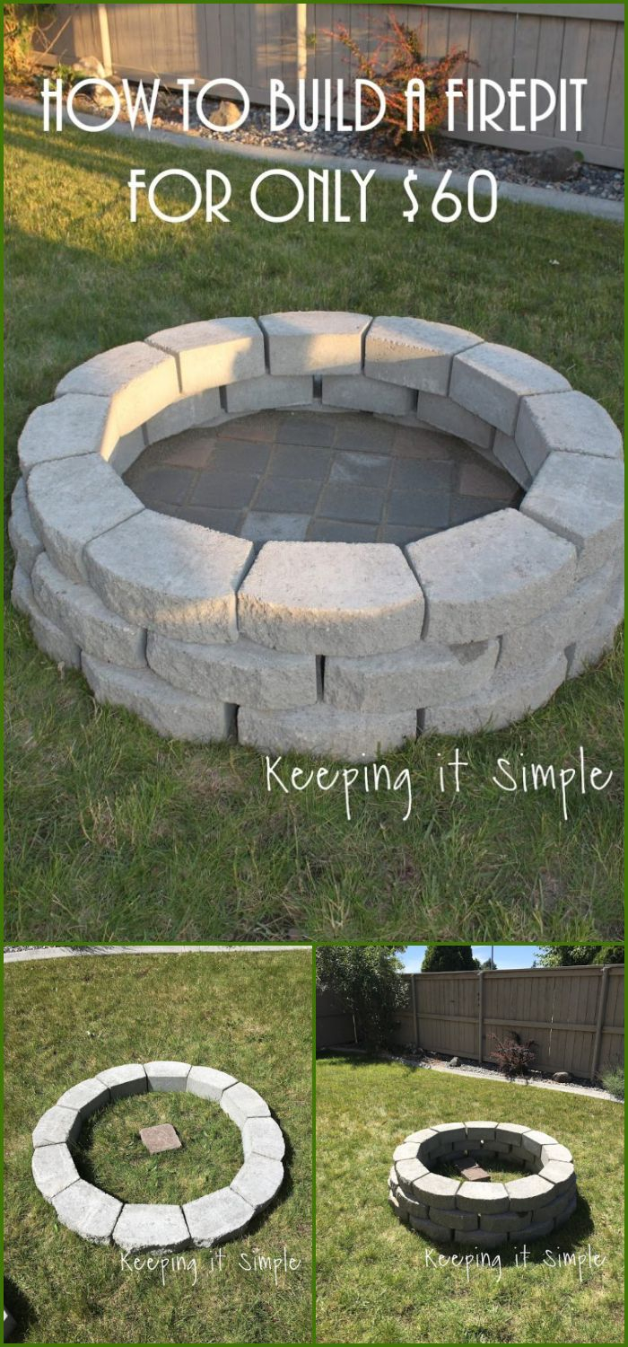 Best Diy Outdoor Fire Pit Ideas Paver Fire Pit Easy Fire within sizing 700 X 1500