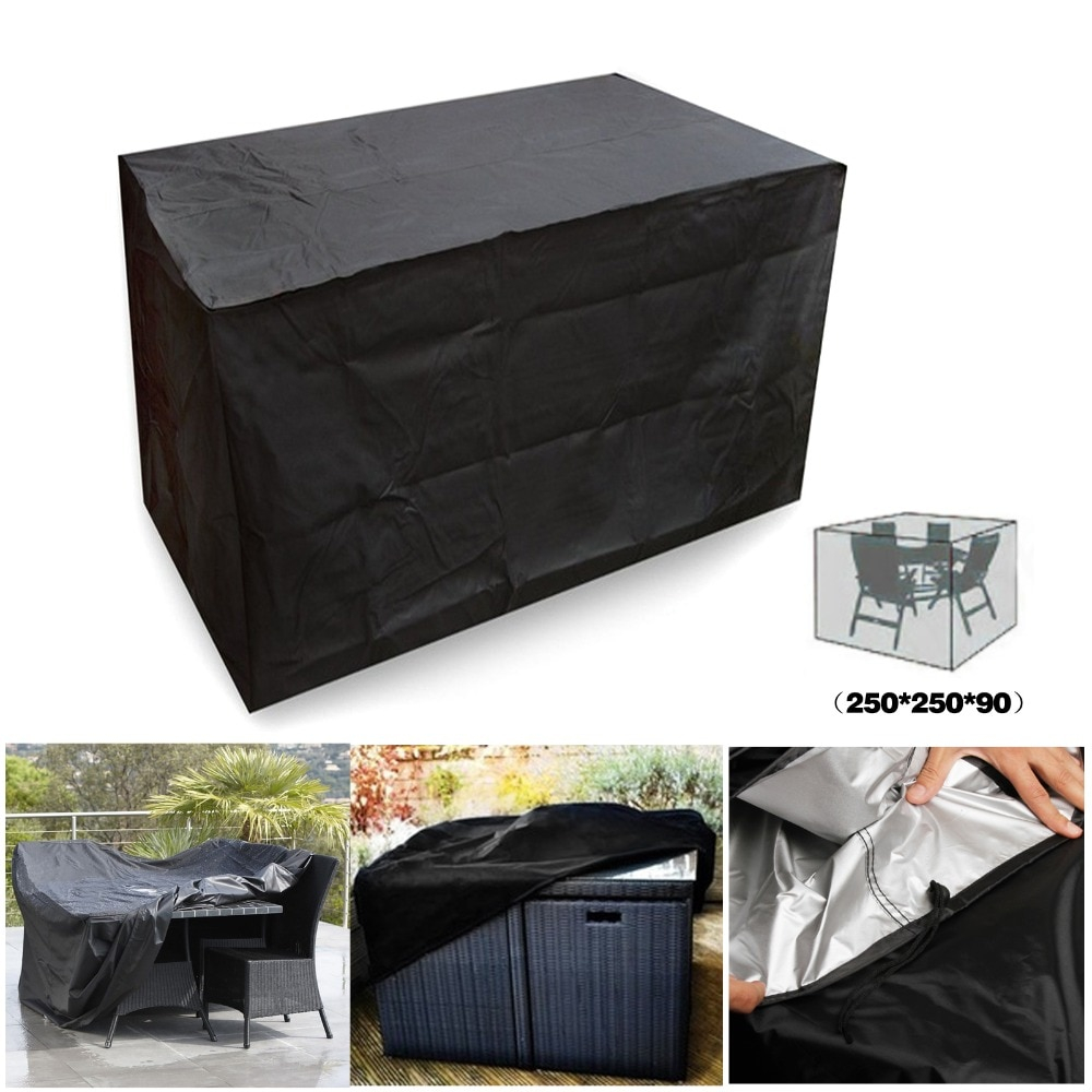 Black Waterproof Outdoor Patio Garden Furniture Covers Rain Snow Chair Covers For Sofa Table Chair regarding sizing 1000 X 1000