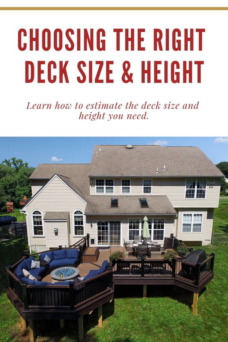 Choosing The Right Deck Size And Height The Outdoor Living intended for measurements 735 X 1102