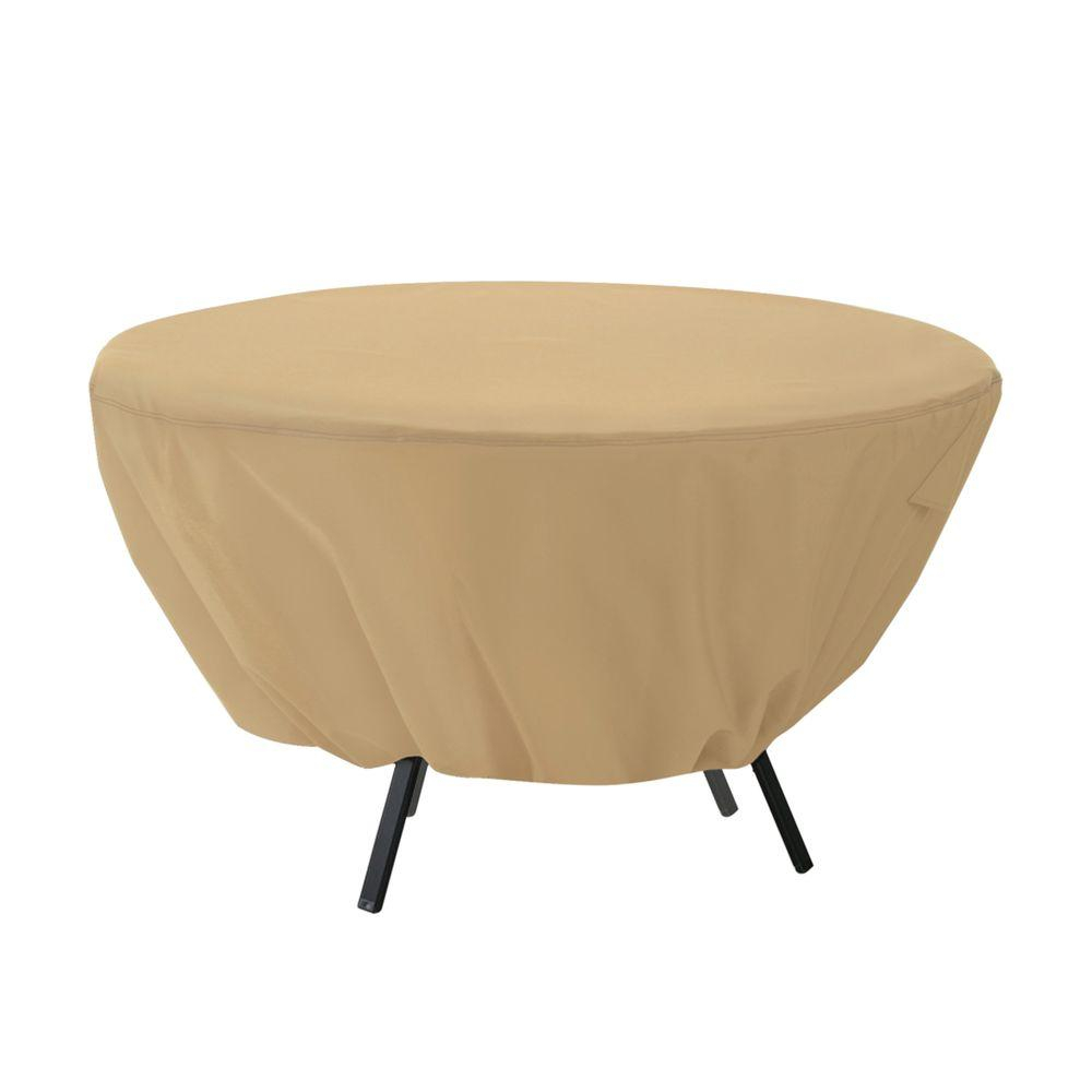 Classic Accessories Terrazzo Round Patio Table Cover regarding proportions 1000 X 1000