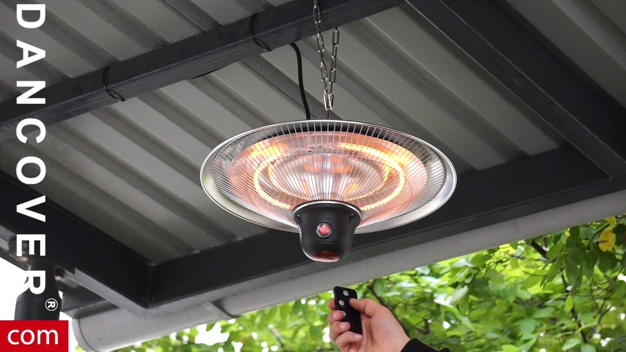 Cosylifestyle Hanging Patio Heater With A Remote Control From Dancover with regard to measurements 1280 X 720