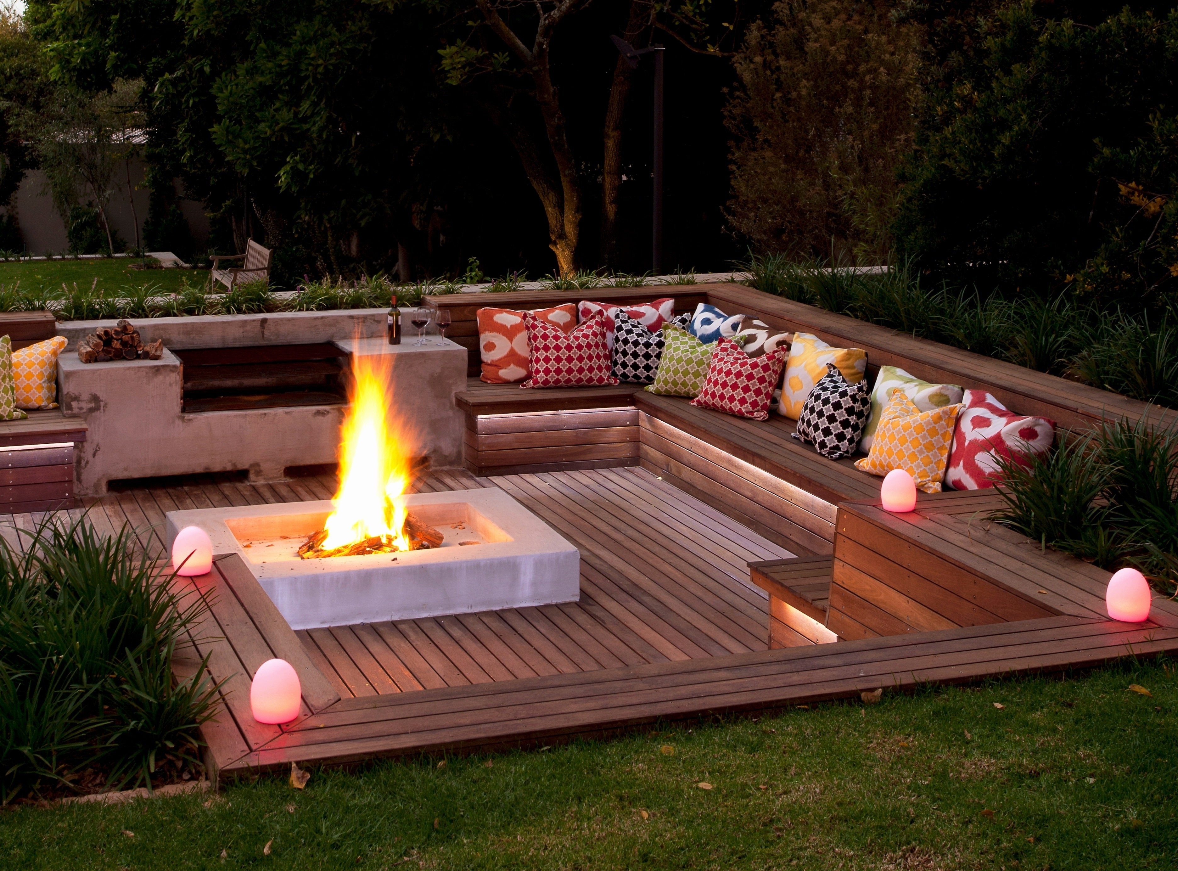 Cozy Patio With Firepit Ideas Biaf Media Home Design within size 3744 X 2768