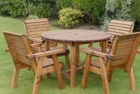 Deluxe 4 Seater Wooden Garden Patio Set pertaining to sizing 1368 X 1034