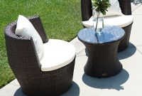 Details About 3 Pc Patio Outdoor Rattan Set Wicker Furniture Glass Table Brown Round Chairs for size 1300 X 1300