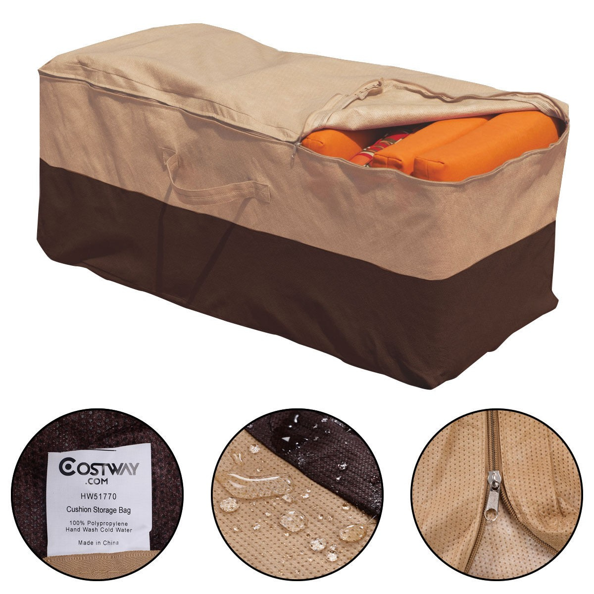 Details About Outdoor Cushion Storage Bag Patio Chaise Organizer Furniture Protection Cover Us intended for measurements 1200 X 1200