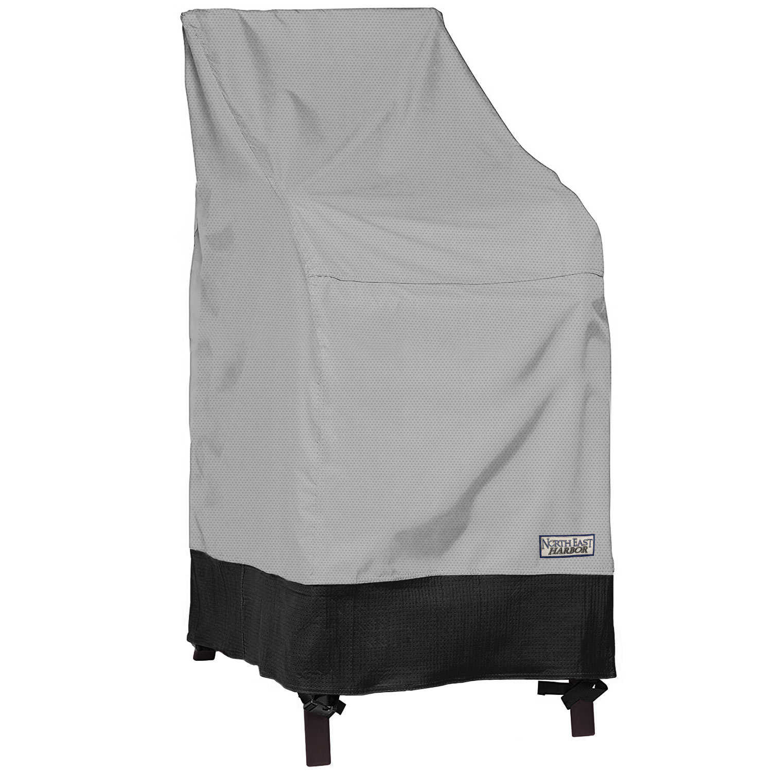 Details About Outdoor Stackable Chair Patio Furniture Cover 28w X 30d X 49h Grayblack in size 1500 X 1500