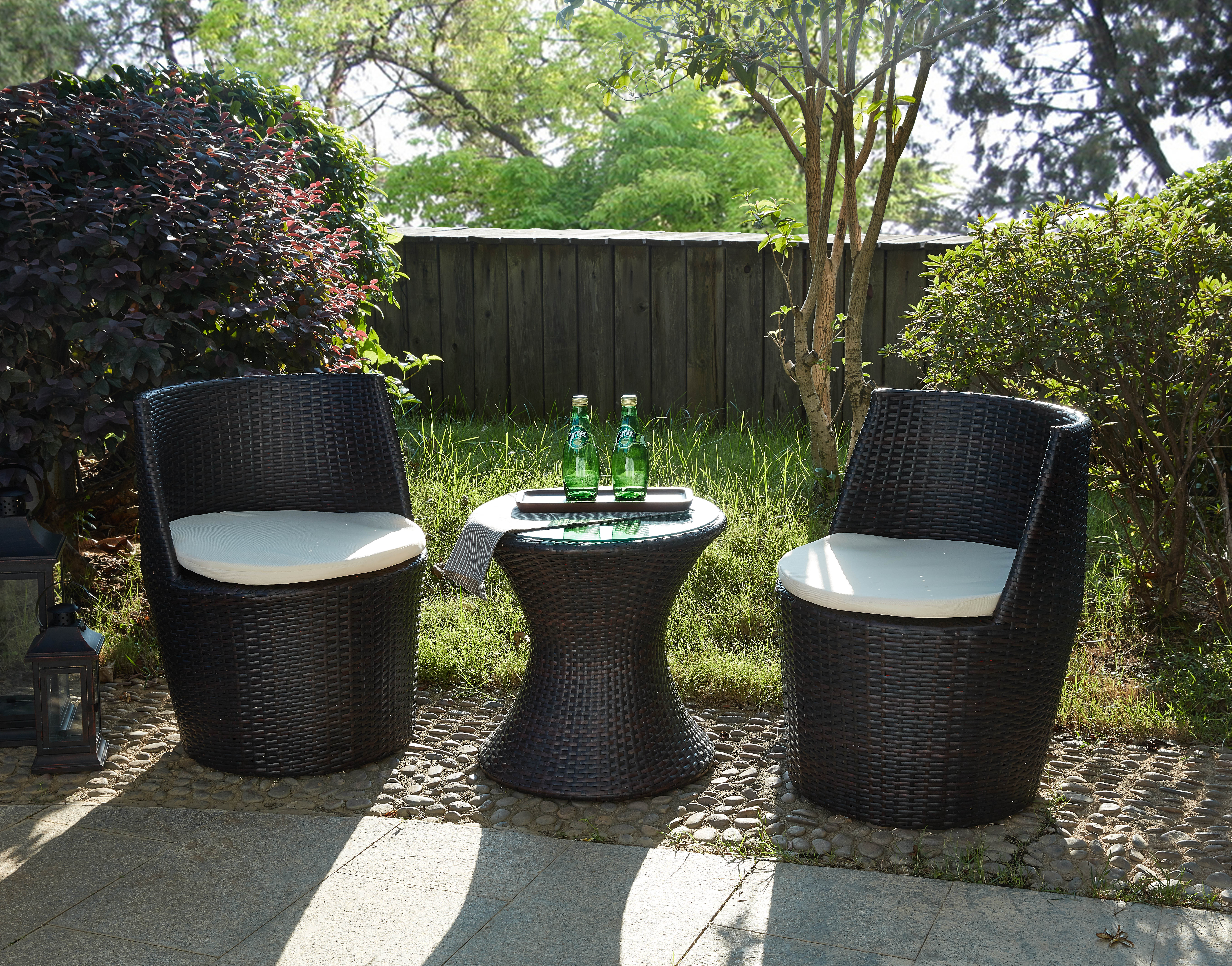 Details About Verona 3 Pc Rattan Garden Patio Furniture Vase Set Table 2 Chairs Stackable intended for dimensions 7147 X 5605