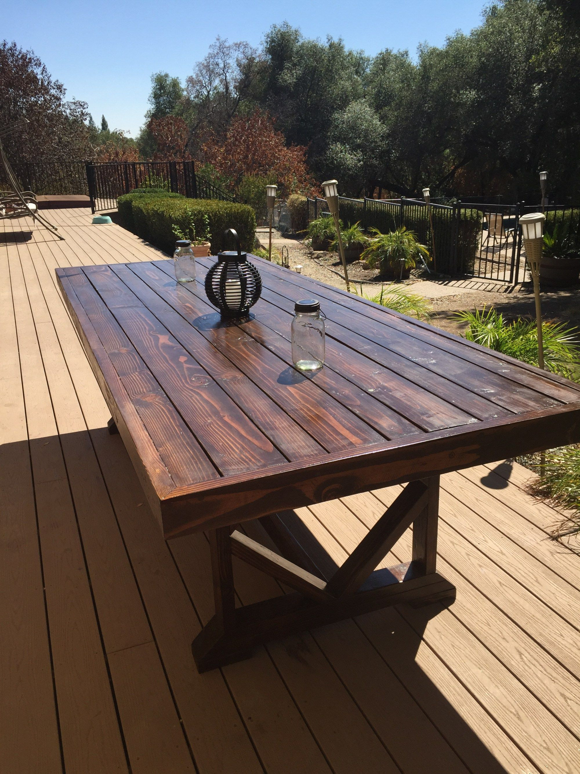 Diy Large Outdoor Dining Table Outdoor Wood Table Wooden pertaining to sizing 2000 X 2667