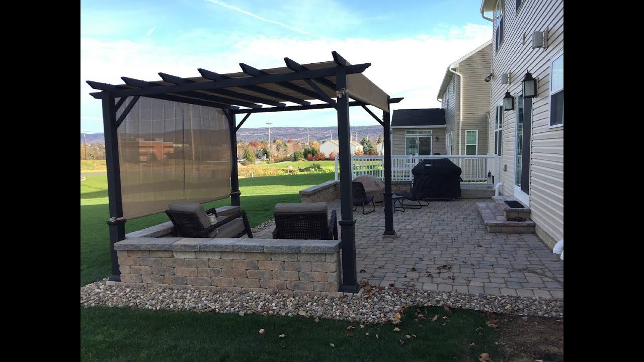 Diy Paver Patio Fire Pit Pergola Project Time Lapse in sizing 1280 X 720