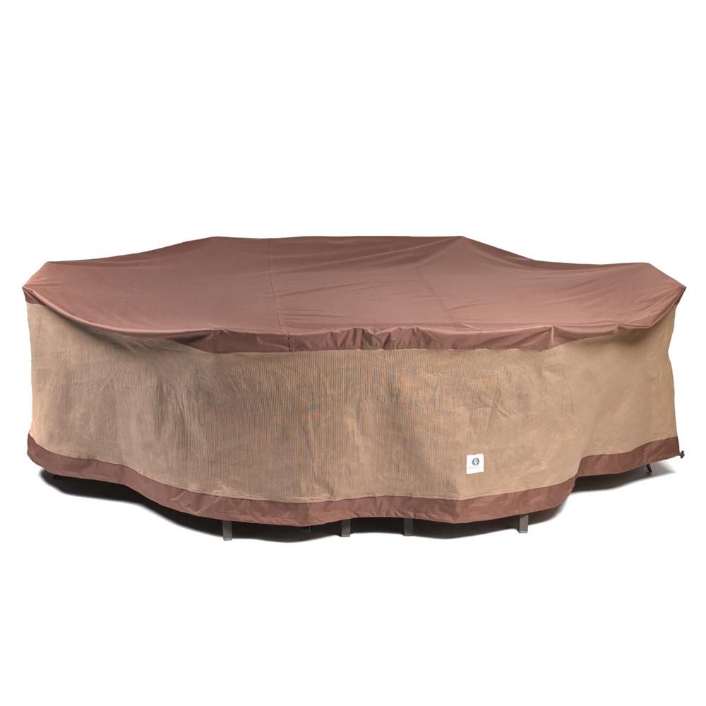 Duck Covers Ultimate 109 In L Rectangleoval Patio Table And Chair Set Cover throughout dimensions 1000 X 1000