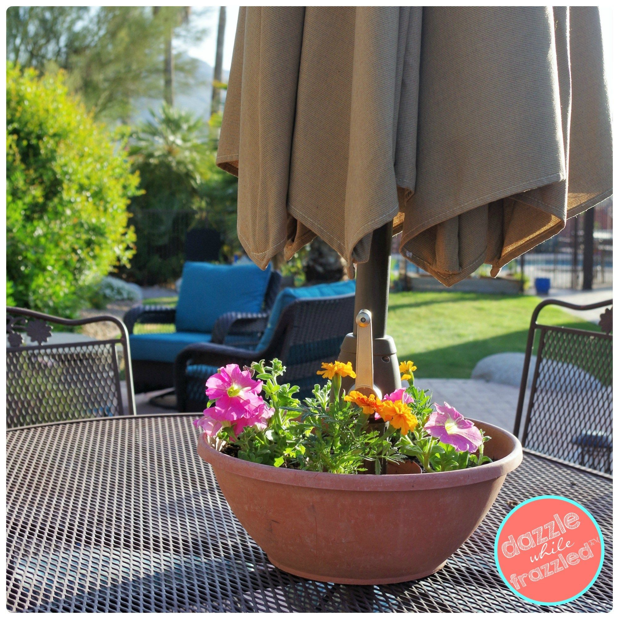 Easy Diy Umbrella Table Flower Planter Flowers And Gardens with regard to sizing 2000 X 2000