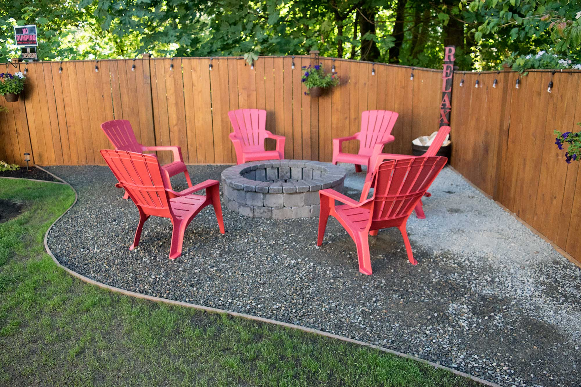 Fire Pit Fence Patio Backyard Thurston County Landscaping with size 2000 X 1333