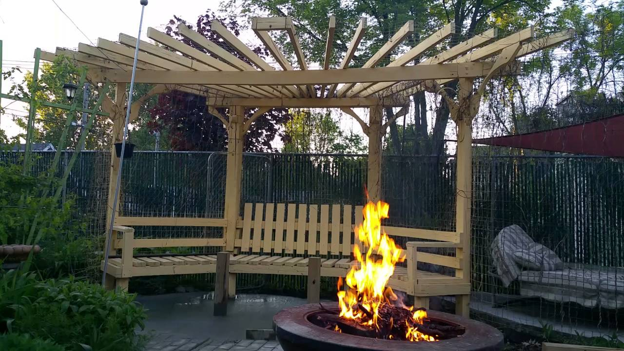 Fire Pit Pergola with regard to sizing 1280 X 720