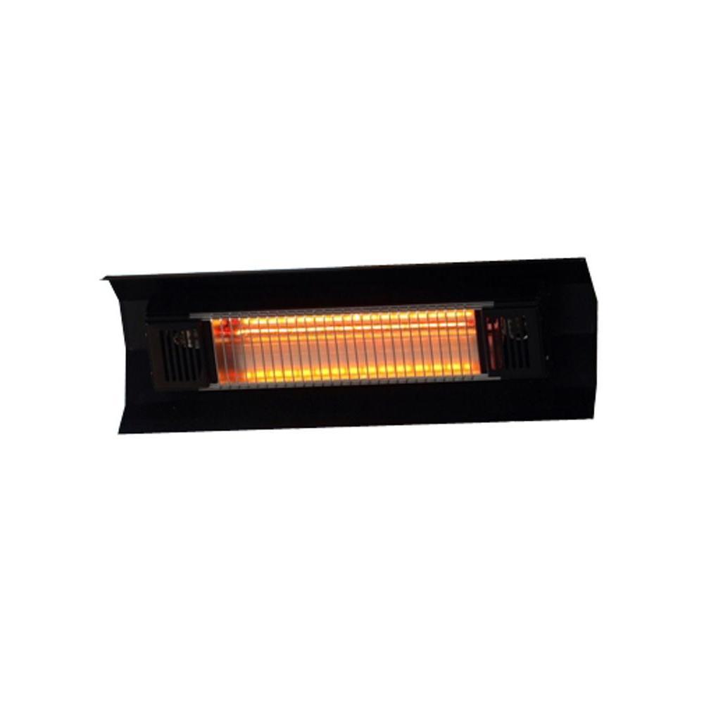 Fire Sense 1500 Watt Black Wall Mounted Infrared Electric Patio Heater pertaining to sizing 1000 X 1000