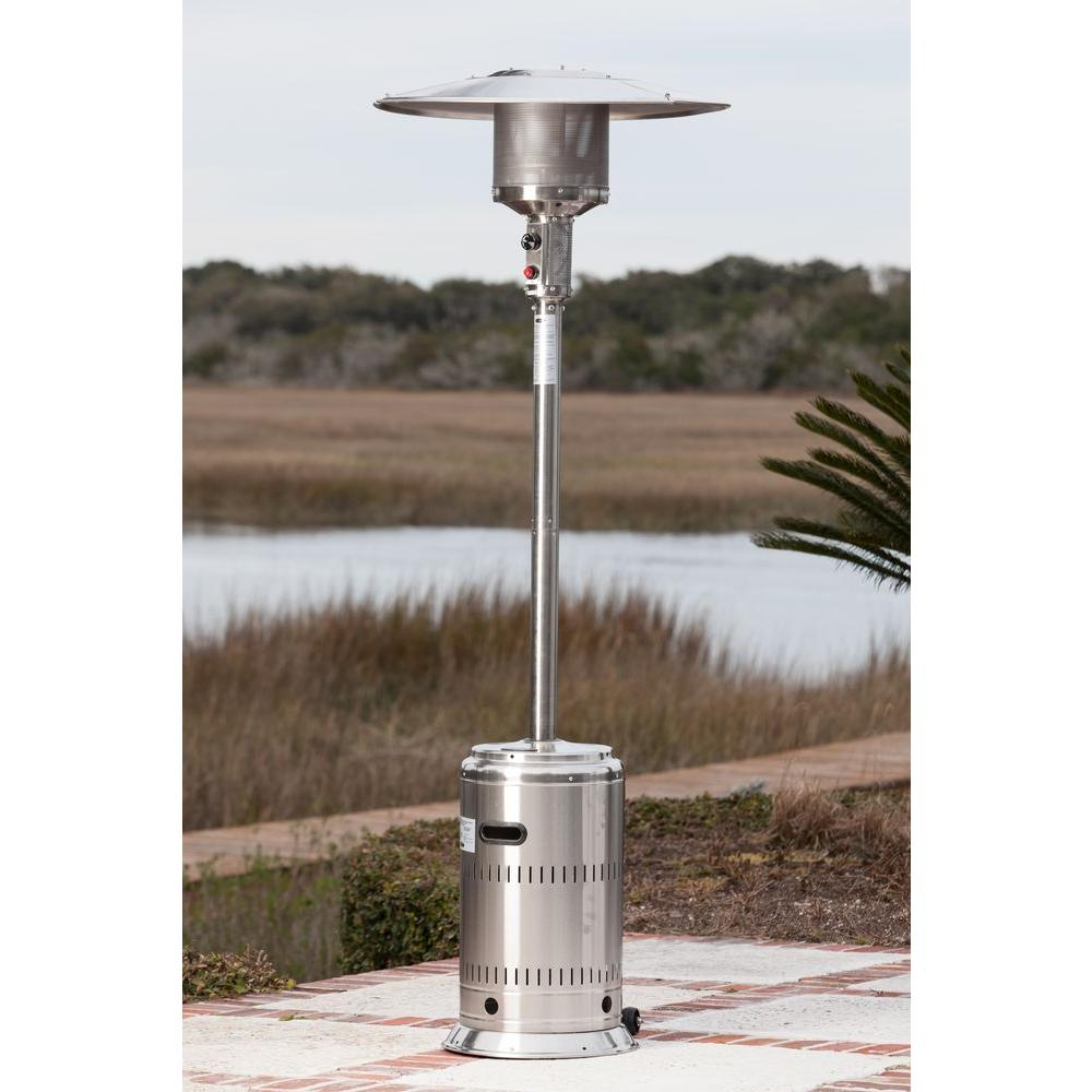 Fire Sense 46000 Btu Stainless Steel Propane Gas Commercial Patio Heater intended for proportions 1000 X 1000