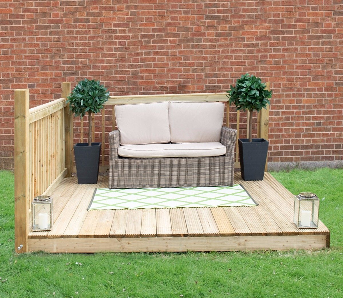 Forest 8 X 8 Ft Patio Deck Kit in measurements 1199 X 1040