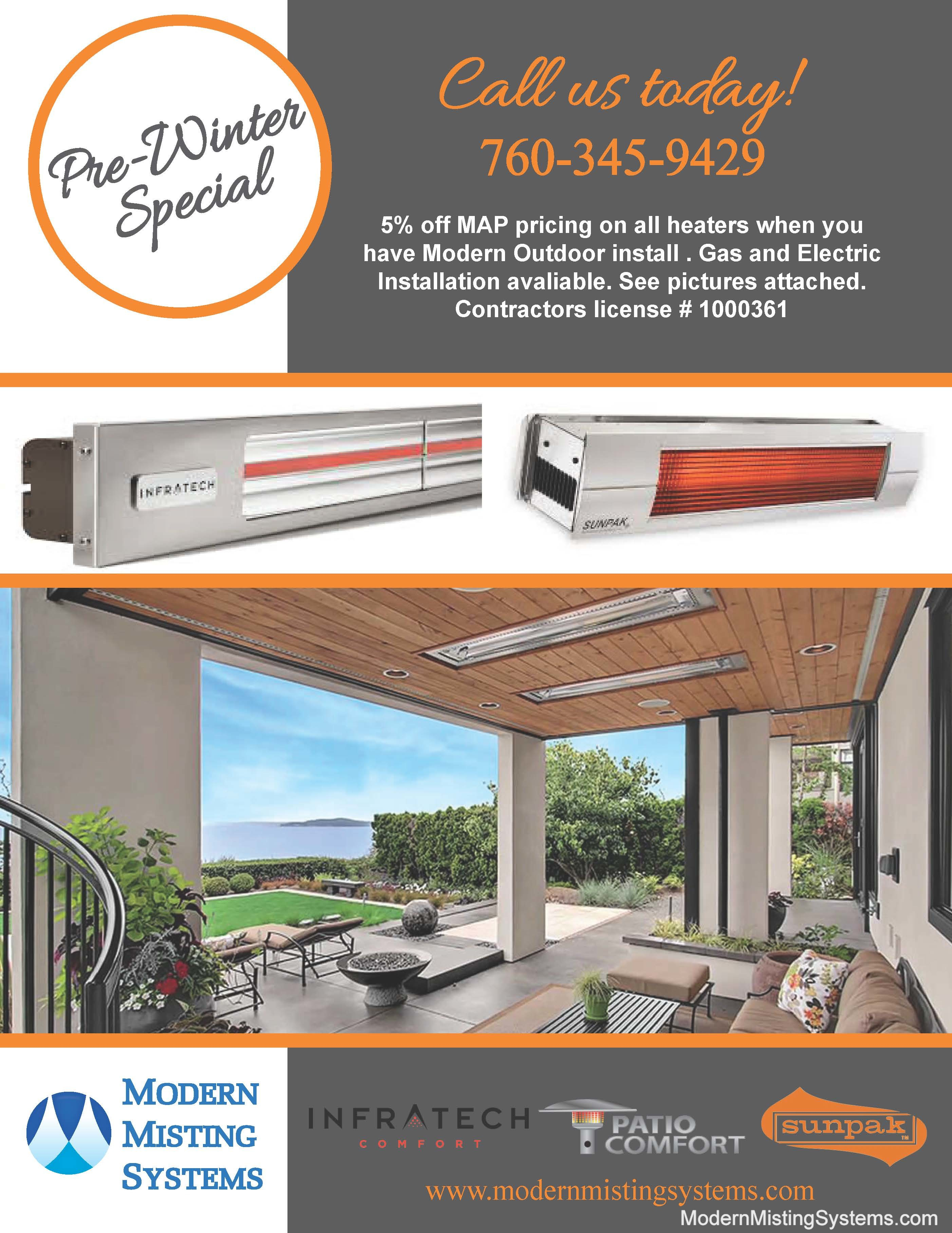Gas And Electric Patio Heater Installation Modern Misting with regard to measurements 2805 X 3631