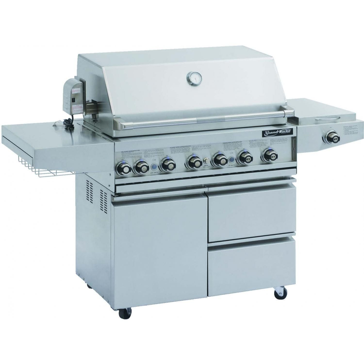 Grand Turbo Barbeques Galore 38 Inch Propane Gas Grill On intended for measurements 1500 X 1500