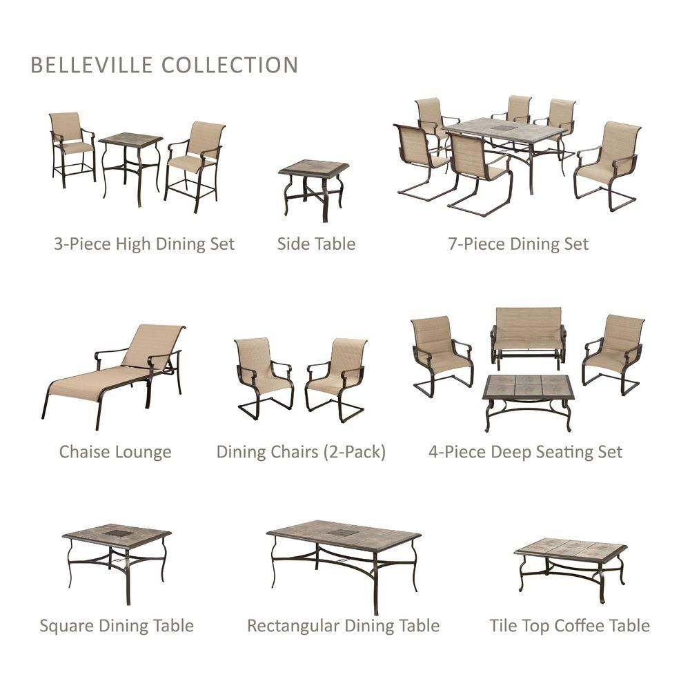 Hampton Bay Belleville Rectangular Patio Dining Table pertaining to sizing 1000 X 1000