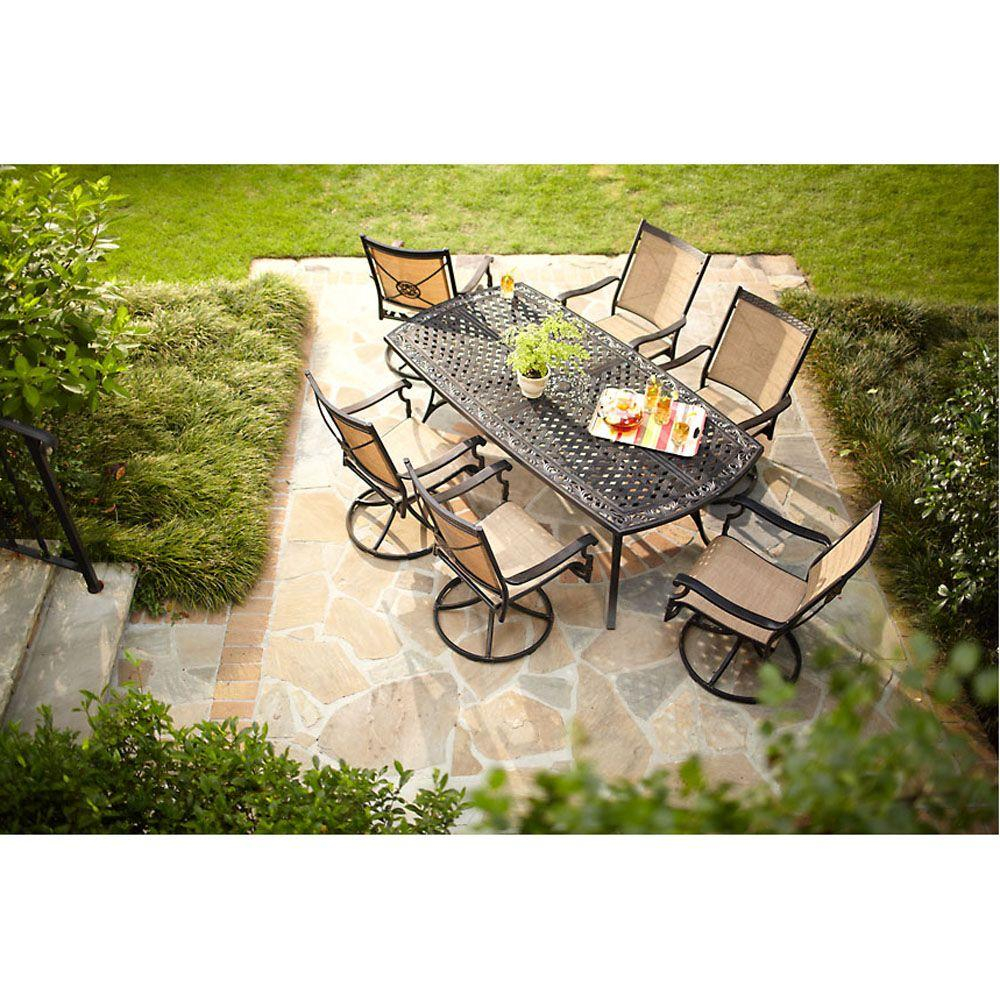Hampton Bay Solana Bay 7 Piece Patio Dining Set Patio in measurements 1000 X 1000