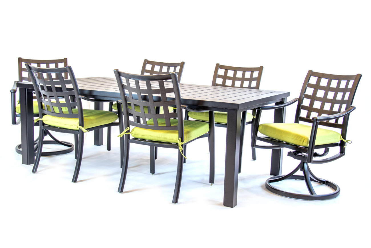 Hanamint Sherwood Dining Sets Rectangle Dining Table Set with dimensions 1300 X 867